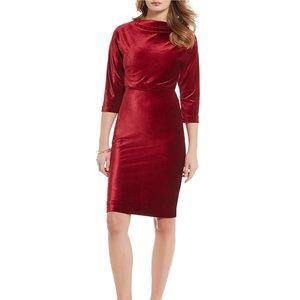 Belle Badgley Mischka Red Velvet It Dress